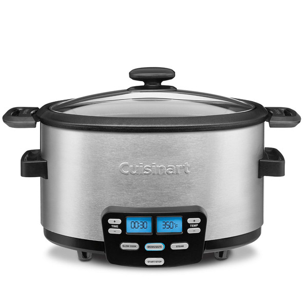 Cuisinart MSC-600 3-In-1 Cook Central 6-Quart Multi-Cooker: Slow Cooker, Brow...