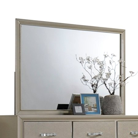 Acme Carine Rectangle Dresser Mirror in Champagne Frame