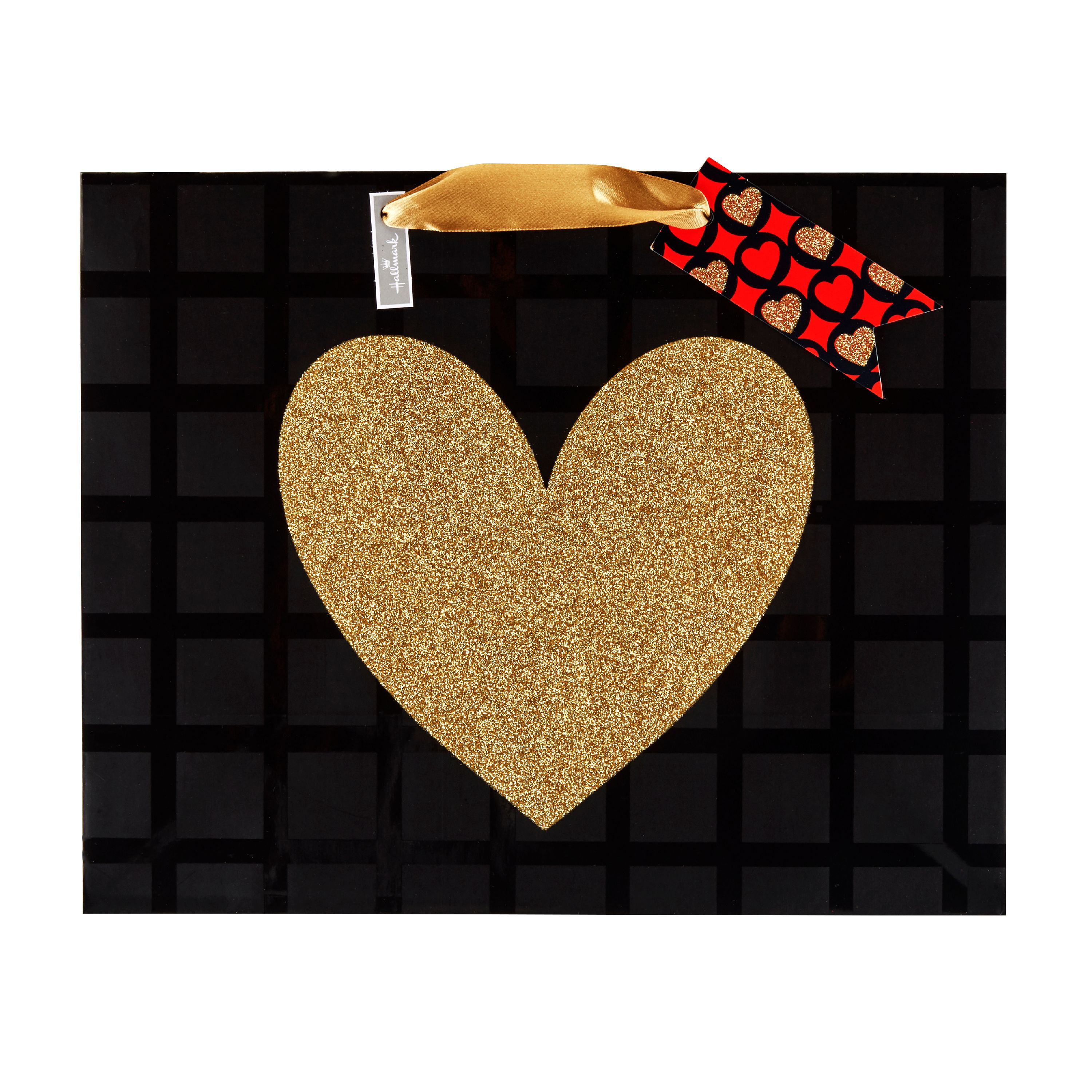 Hallmark Large Valentine's Day Gift Bag (Heart of Gold)