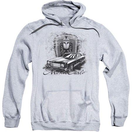 Chevy Men's  Monte Carlo Drawing Hooded Sweatshirt Athletic Heather ()