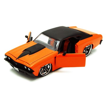 1969 Chevy Chevelle Ss Orange Jada Toys Time Muscle 90213 1 24