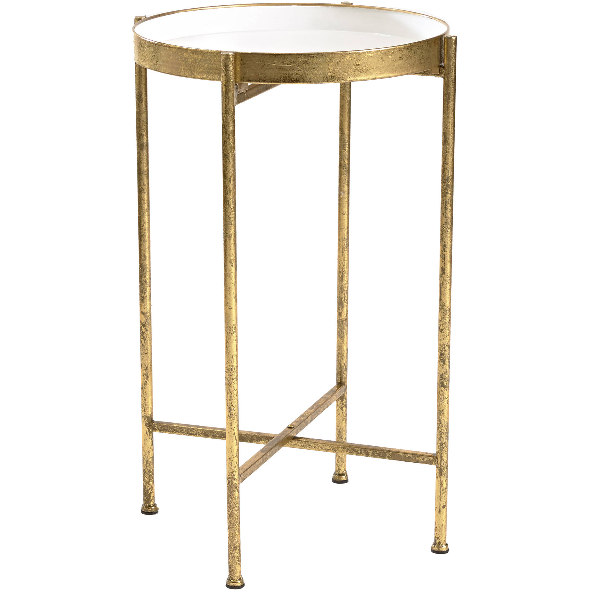 InnerSpace Small Gild Pop Up Tray Table by InnerSpace Luxury Products