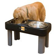 Big Dog Double Bowl Feeder - 16 in. Black