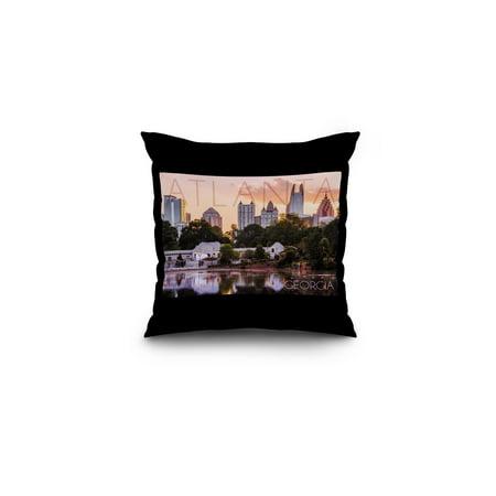 Atlanta  Georgia   Piedmont Park   Lantern Press Photography   16X16 Spun Polyester Pillow  Black Border
