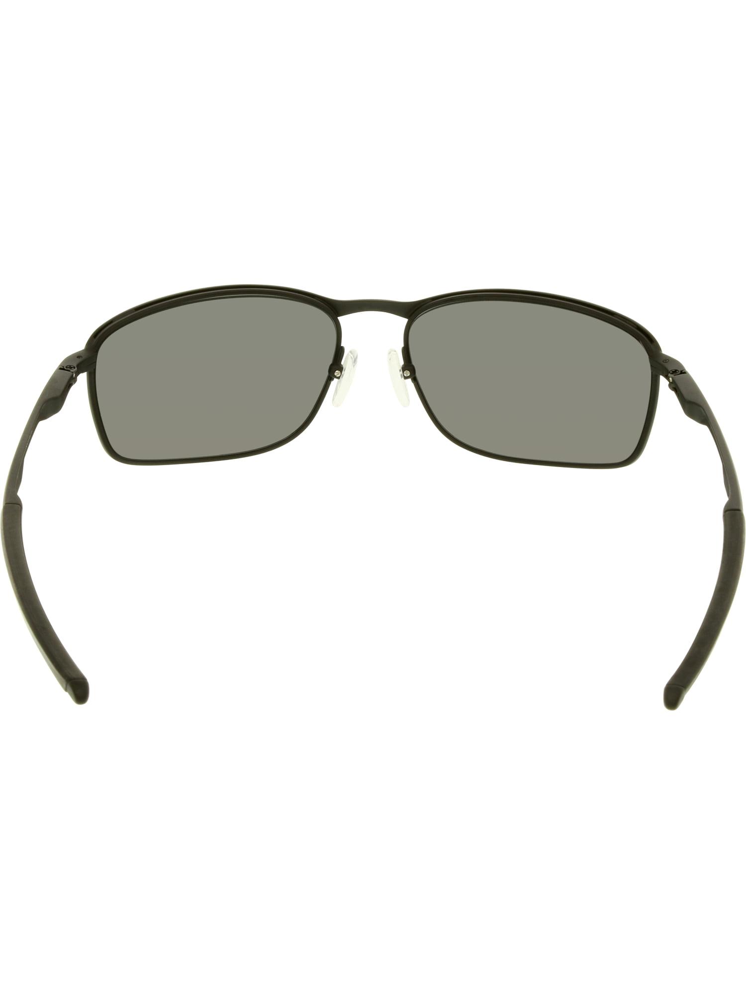 2edbf992d7 Oakley Men s Polarized Conductor 8 OO4107-02 Black Rectangle Sunglasses