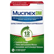 Best Cough suppressants - Mucinex DM 12-Hour Maximum Strength Expectorant and Cough Review