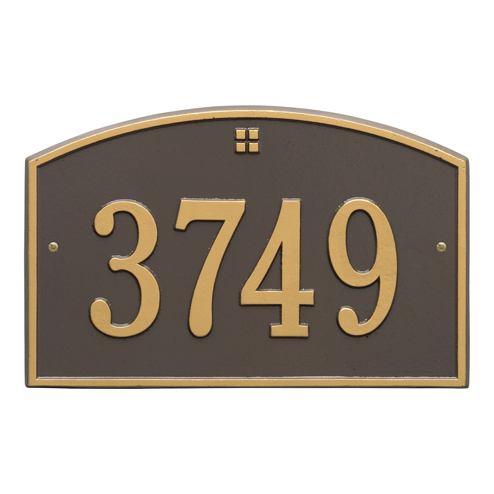 Personalized Whitehall Products Cape Charles 1- Line Address Plaque in Bronze Gold by Whitehall