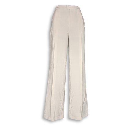 H by Halston Women's Pants Sz 8 Stretch Suiting Wide Leg Beige A301958 Suiting Menswear Pant