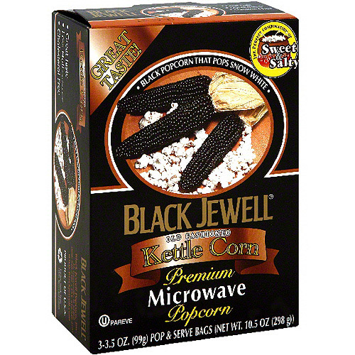 Black Jewell Microwave Kettle Popcorn, 10.5 oz (Pack of 6)