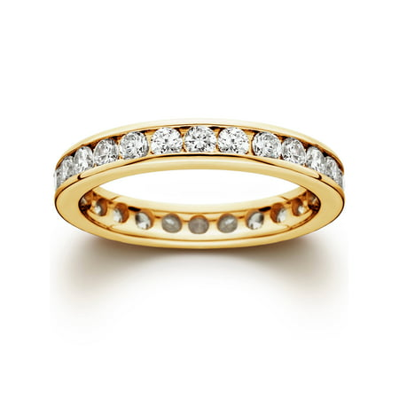 1 1/2CT Channel Set Diamond Eternity Ring 14K Yellow (Tacori Eternity Ring)
