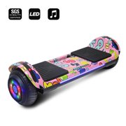 """CHO Power Sports Hoverboard -Self Balancing Scooter 6.5"""" w/ LED Lights -Built in Bluetooth Speaker UL2272 Certified"""