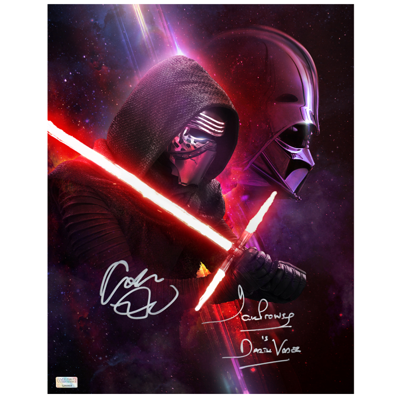 Adam Driver and David Prowse Autographed Star Wars 11?14 Legacy Photo