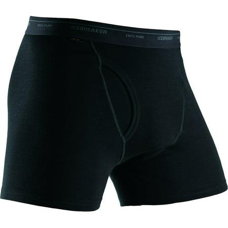 Mens Icebreaker - Icebreaker Men's SKIN200 Lightweight Merino Underwear, Black