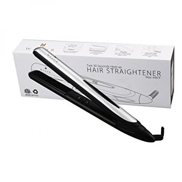 Wazor Hair Flat Iron 1 Inch Ionic Ceramic Hair Straightener Professional Flat Iron With LED Digital and Temperature Control From 284℉ to 446℉ Auto Shut Off