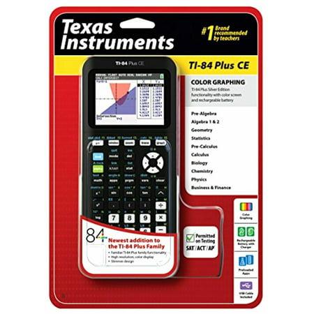 Texas Instruments TI-84 Plus CE Graphing Calculator, Black Texas Instruments TI-84 Plus CE Graphing Calculator, Black condition: New Brand: Texas InstrumentsMPN: 84PLCE/TBL/1L1