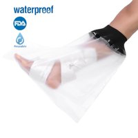 HERCHR Foot Bandage, Waterproof Adult Sealed Cast Bandage Protector Wound Fracture Foot Leg Knee Cover for Shower, Waterproof Sealed Protector For Adult, Waterproof Sealed Protector for Bath Shower