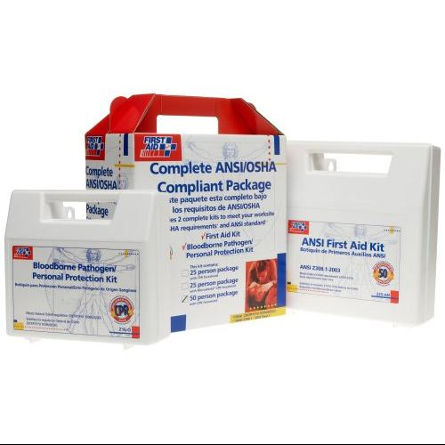 FIRST AID ONLY, INC. 228CP First Aid Kit For 50 People, 229 Pieces, Ansi/osha Compliant, Plastic Case