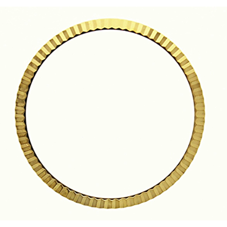 FLUTED  BEZEL FOR 36MM ROLEX MENS DATEJUST 1530-1570 GOLD PLATED