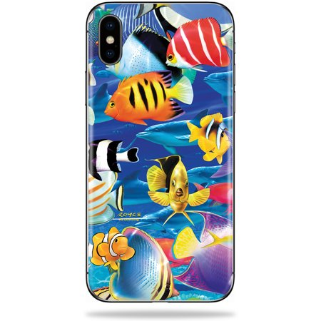Skin For Apple iPhone XS - Tropical Fish | Protective, Durable, and Unique Vinyl Decal wrap cover | Easy To Apply, Remove, and Change