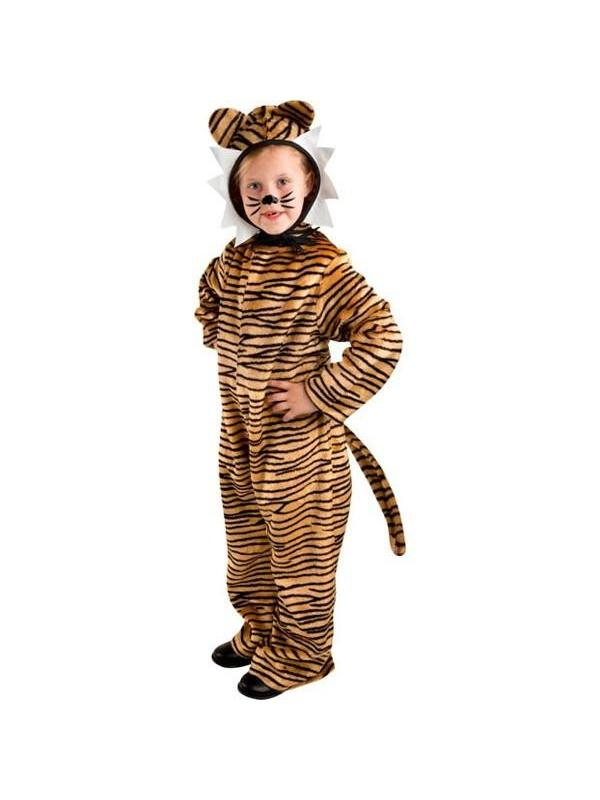 Child Tiger Costume  sc 1 st  Walmart & Girls Brown Wild Tiger Halloween Costume Cat Dress u0026 Leg Warmers ...