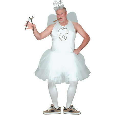 Tooth Fairy Adult Plus Halloween Costume, Size: Up to 300 lbs - One Size