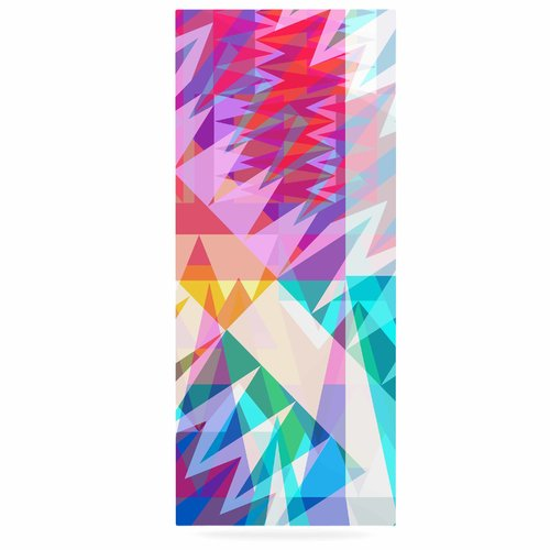 East Urban Home Abstract Geometric 'Triangle Feast' Graphic Art Print on Metal