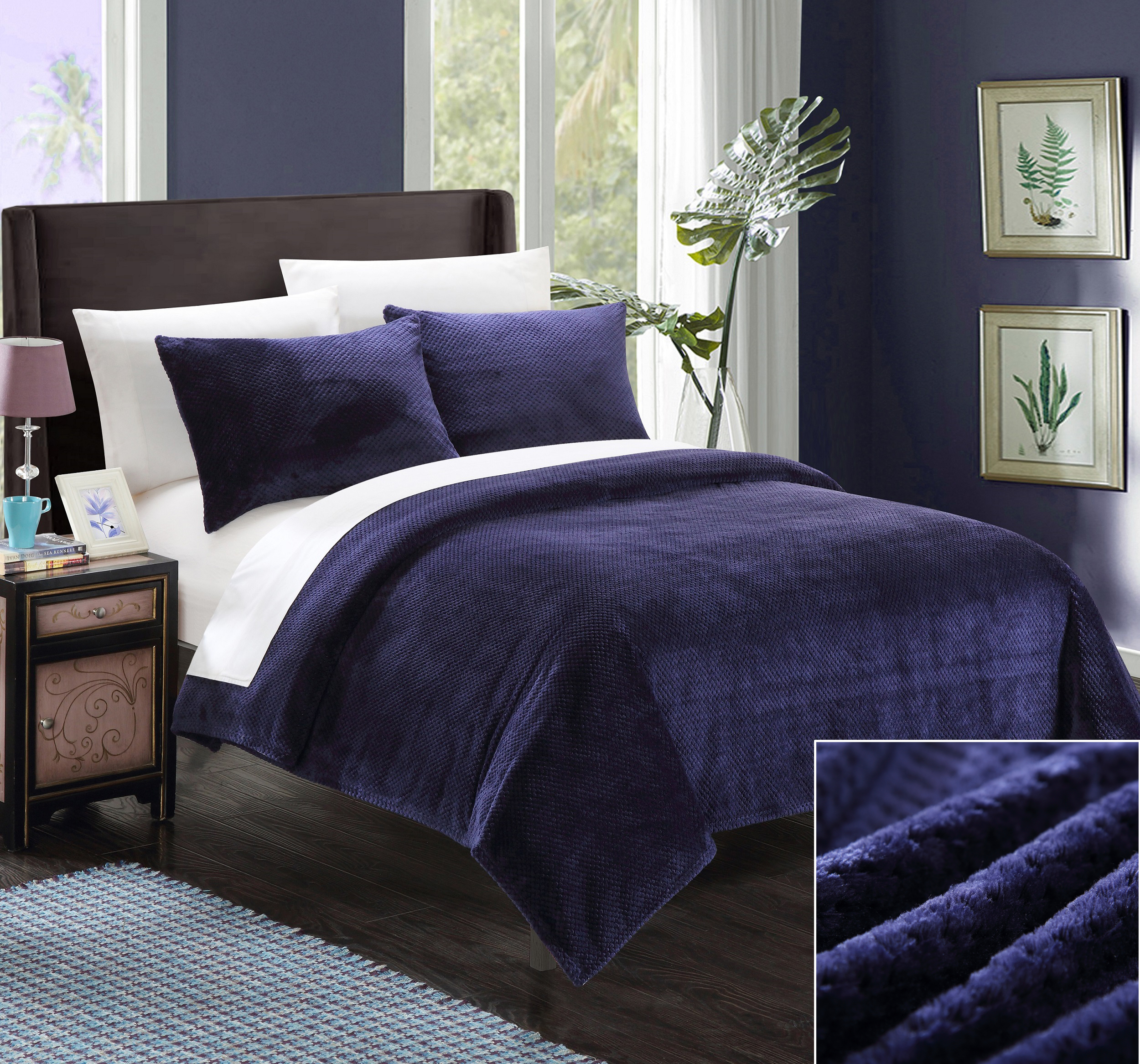 Chic Home 3-Piece Marrakesh King, Navy
