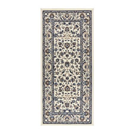 Ikea Rug, low pile, beige, blue , 2 ' 7