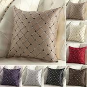 Home Sofa Bed Decor Multicolored Plaids Throw Pillow Case Square Cushion Cover 43*43CM