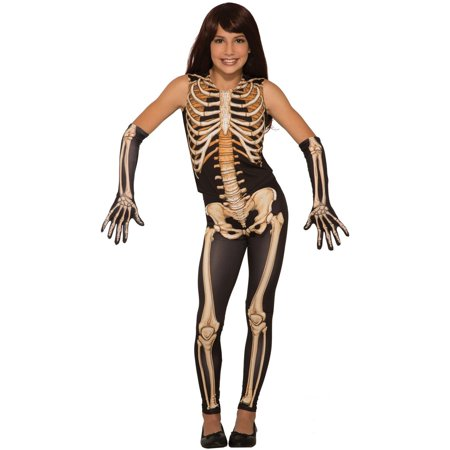 Girls Pretty Bones Halloween Costume