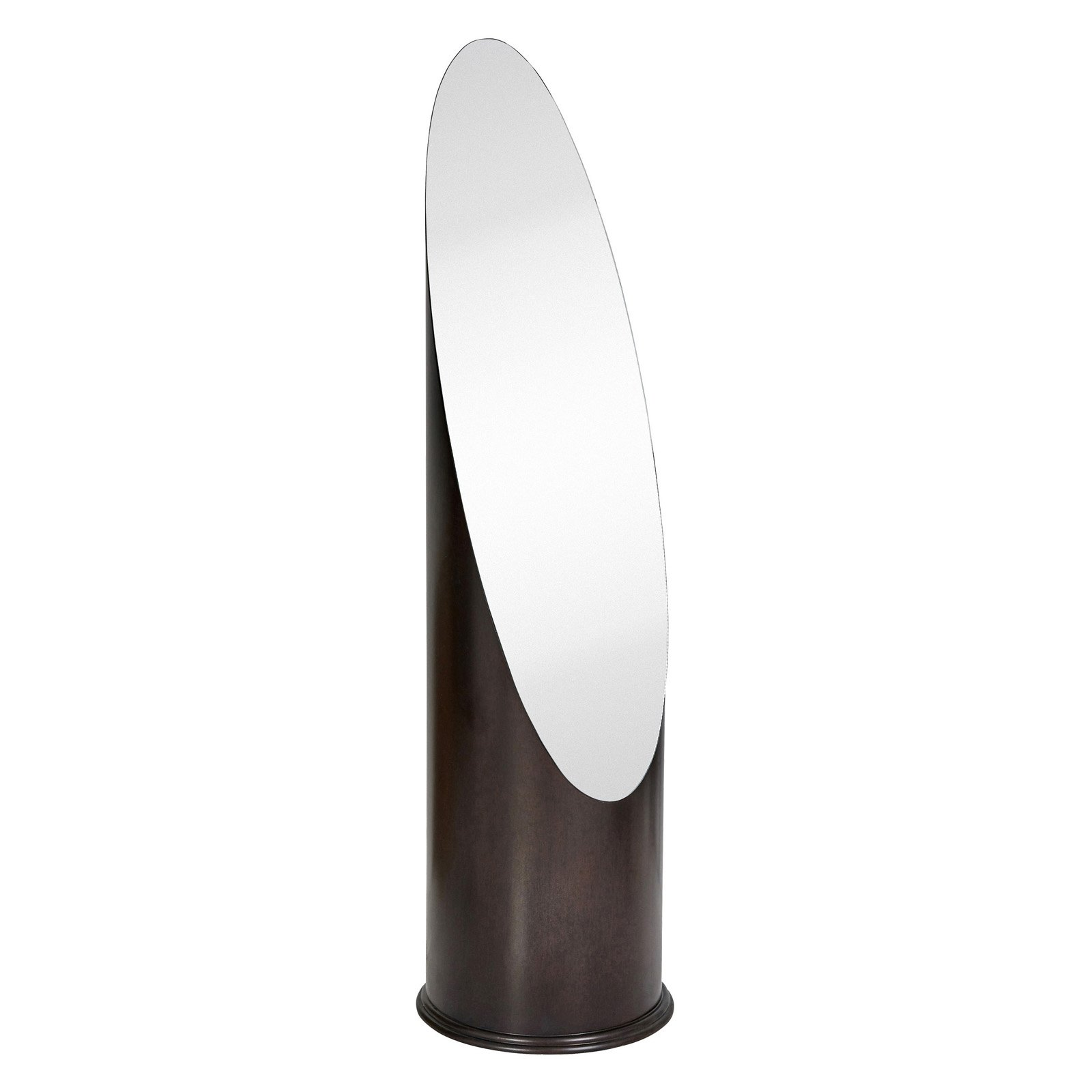 Majestic Dark Brown Pedestal Dressing Floor Mirror by