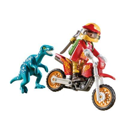 Playmobil Quad Bike (PLAYMOBIL Motocross Bike with Raptor)