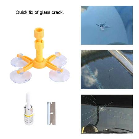 Windshield Repair Kit,Car Auto Windshield Repair Kit Glass Crack Resin Sealer Windscreen Restore Fix Set