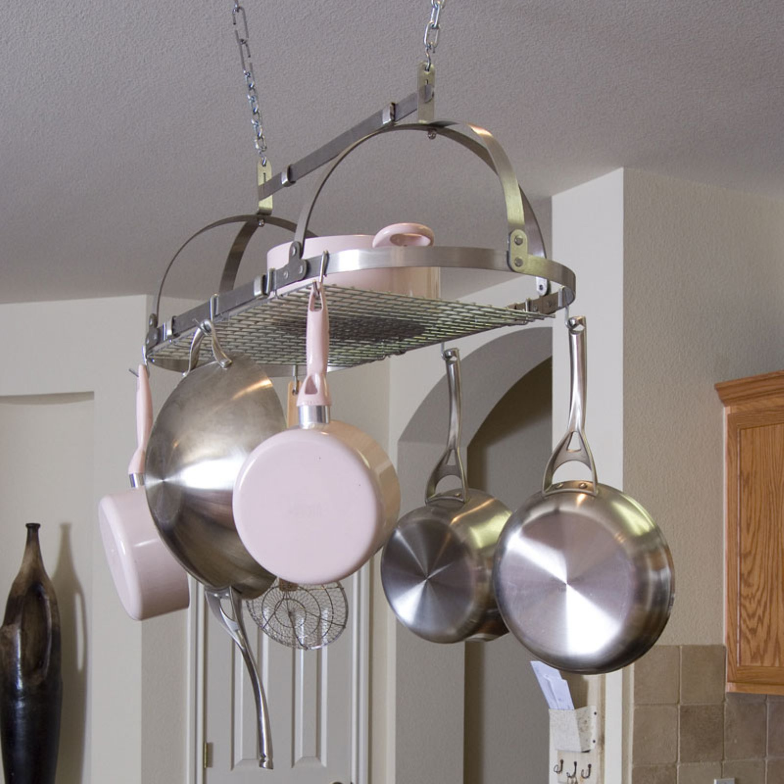 Expandable Stainless Oval Pot Rack