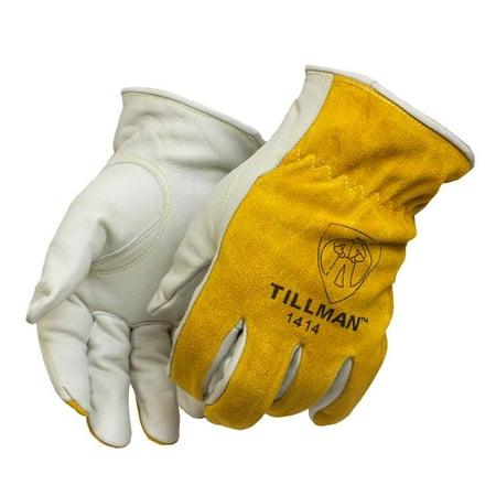 Tillman Top - Tillman 1414 Top Grain/Split Cowhide Drivers Gloves, X-Small
