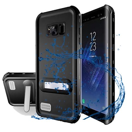 cheaper c689f 922c9 Samsung Galaxy S8 Plus Waterproof Case,Alcase IP68 Waterproof Shockproof  Dirtproof Full Body Case With Kickstand for Samsung Galaxy S8 Plus - Black