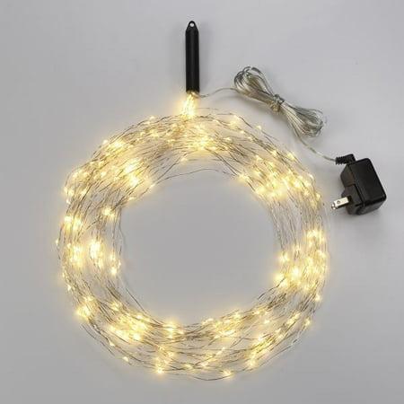 (Bulbrite LED/STAR/SIL/M/27K Indoor LED Starry String Lights-Multi, 10 - 10' Copper Wire Strands, Plug-In)