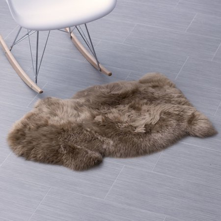 Super Area Rugs, Genuine Australian Sheepskin Beige Fur Rug,