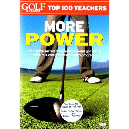 Golf Magazine Top 100 Teachers: More Power