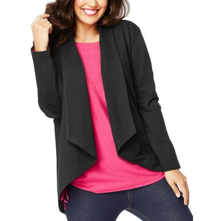 Fly Away Cotton Cardigan (Plus-Size Women's French Terry Flyaway Cardigan)