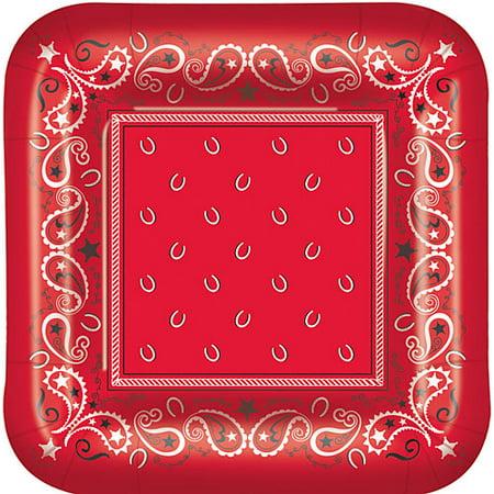 Bandana Plates (Bandana Print Dessert Plates)