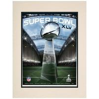 "2011 Packers vs Steelers 10.5"" x 14"" Matted Super Bowl XLV Program"