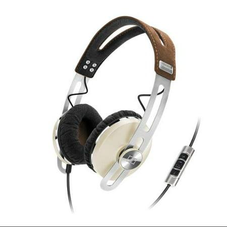 Sennheiser Momentum On-Ear Headphones - Stereo - Ivory White - Mini-phone - Wired - 18 Ohm - 18 Hz - 22 kHz - Over-the-head - Binaural - Supra-aural - 4.59 ft (Sennheiser Hd 201 Over Ear Stereo Headphones)