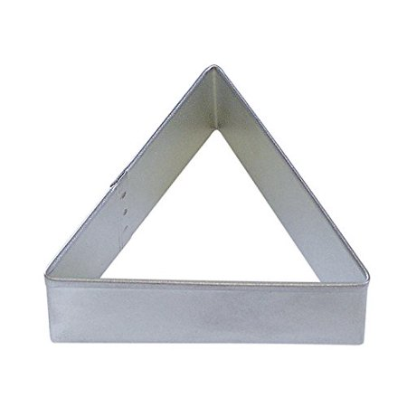 CybrTrayd R&M Triangle Tinplated Steel Cookie Cutter, 3-Inch, Silver, Bulk Lot of 12