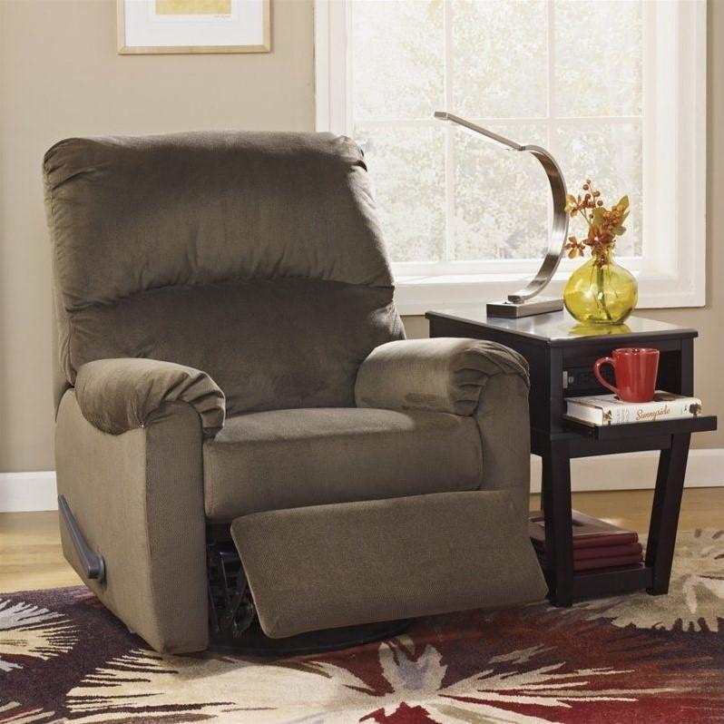 ashley furniture mcfarin swivel glider recliner in umber - Ashley Furniture Recliners