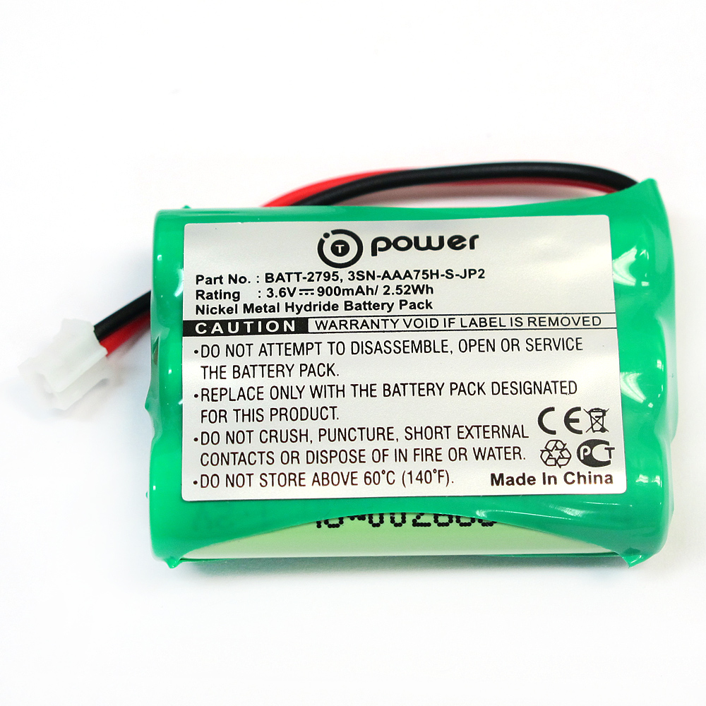 T-Power for GRACO 2791 2795 2795DIG1 2795DIGI1 2796VIB1 A3940 Imonitor Vibe Digital Baby Monitor 3SN-AAA75H-S-JP2 89-1323-00-00 BATT-2795 Replacement Rechargeable Battery (3.6V NIMH 900Mah)