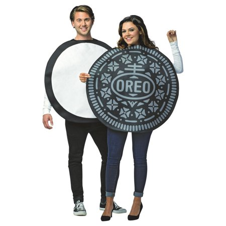 Cheap Couples Costume (Oreo Couples Adult Halloween)