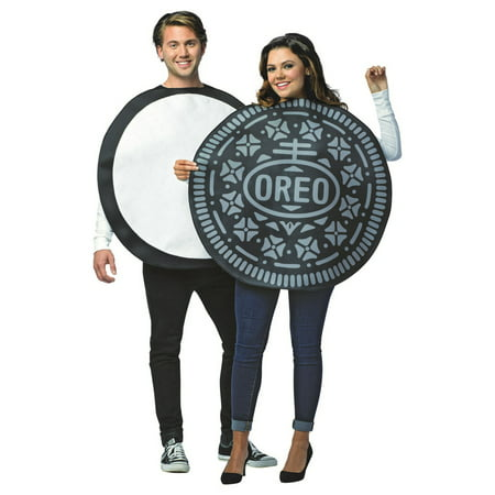 Oreo Couples Adult Halloween Costume - Funny Last Minute Couples Halloween Costumes