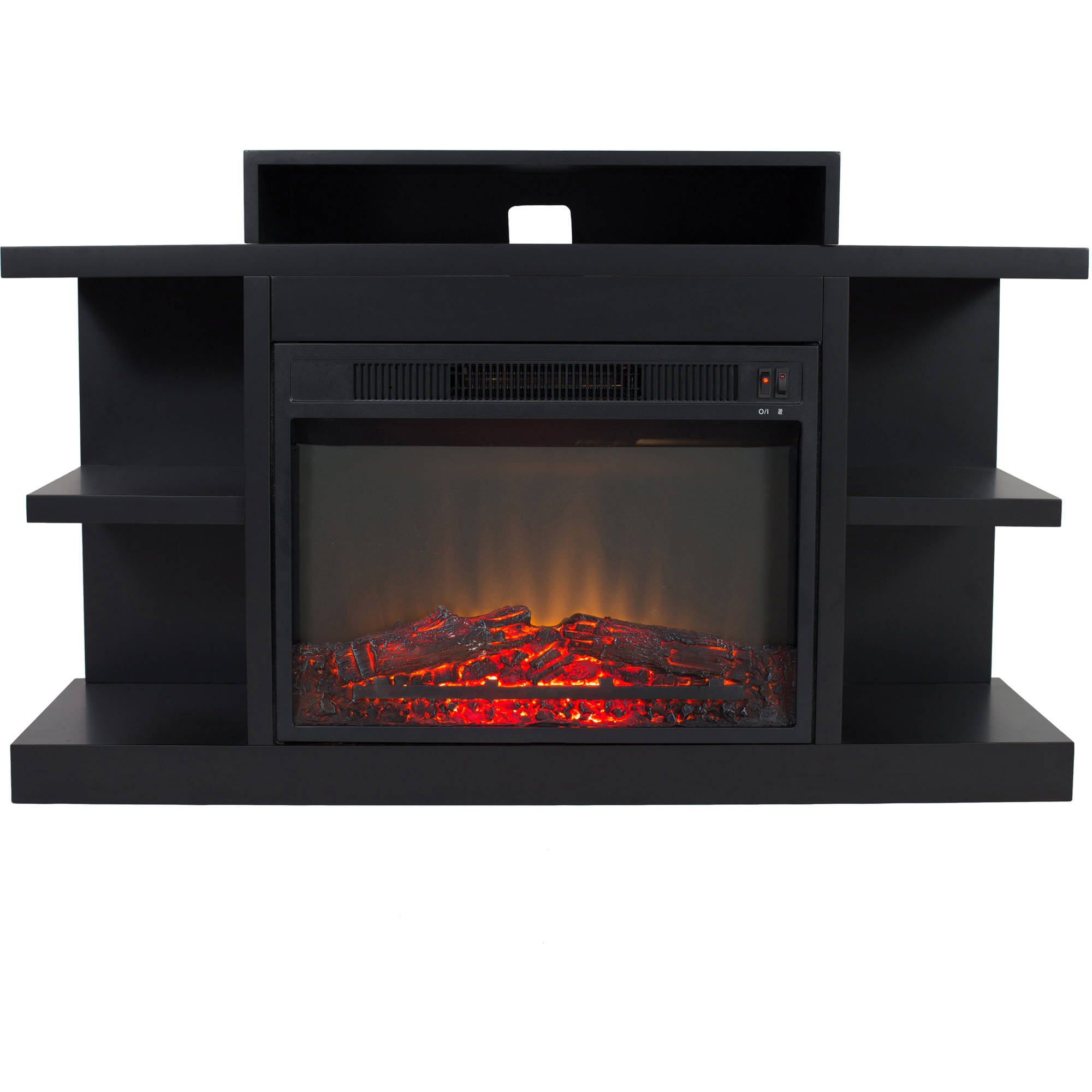 "Electric Fireplace with 46"" Mantle by"