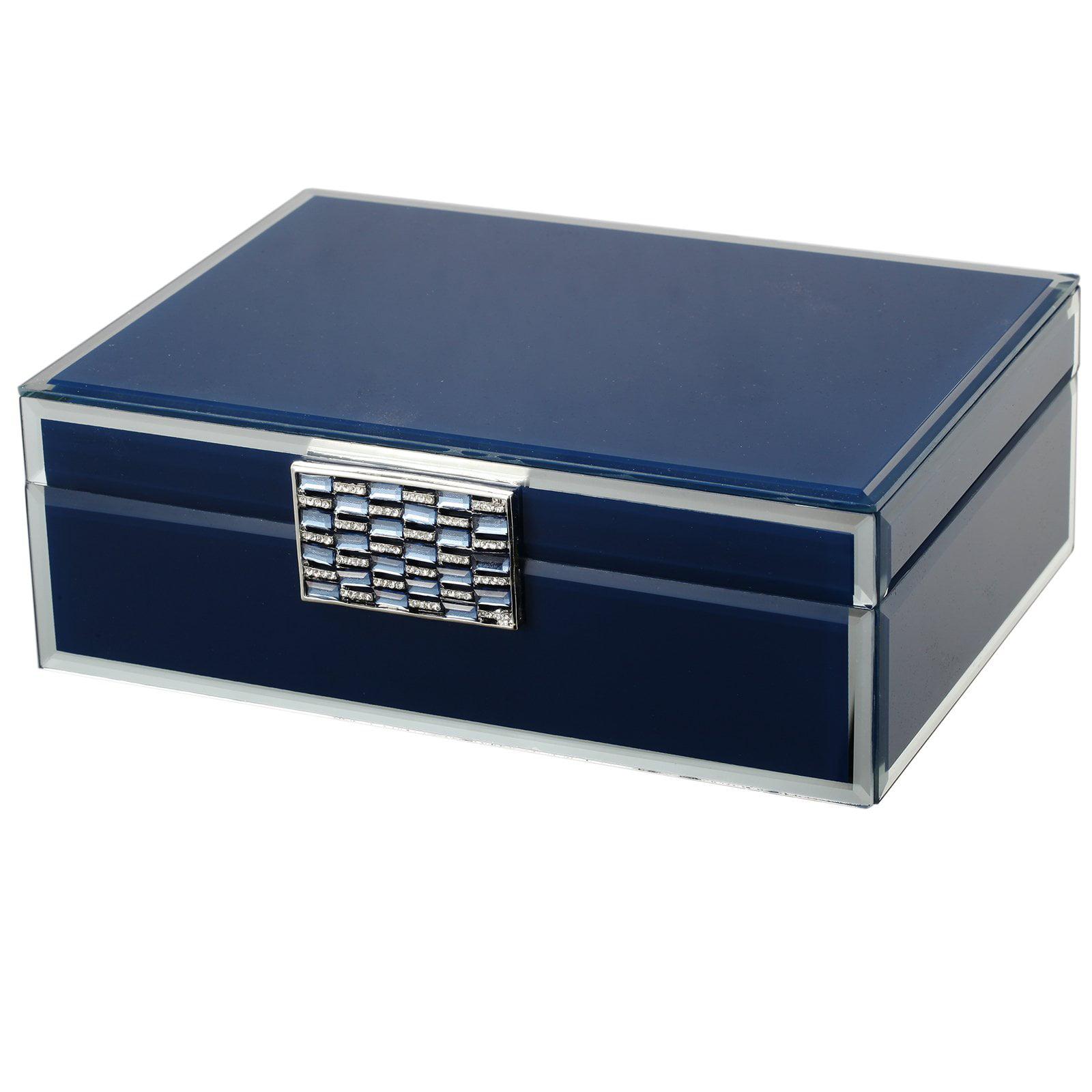 A and B Home Treasured Memories Jewelry Box - Blue